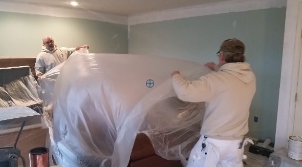 Interior Painting in Reston starts with protecting contents