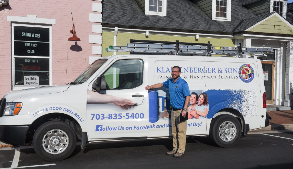 Exterior and interior painting contractor Jon Knowles with Klappenberger & Son