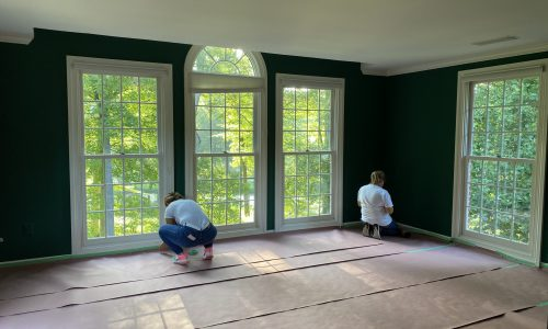 Interior painting in reston starts with protecting the floors